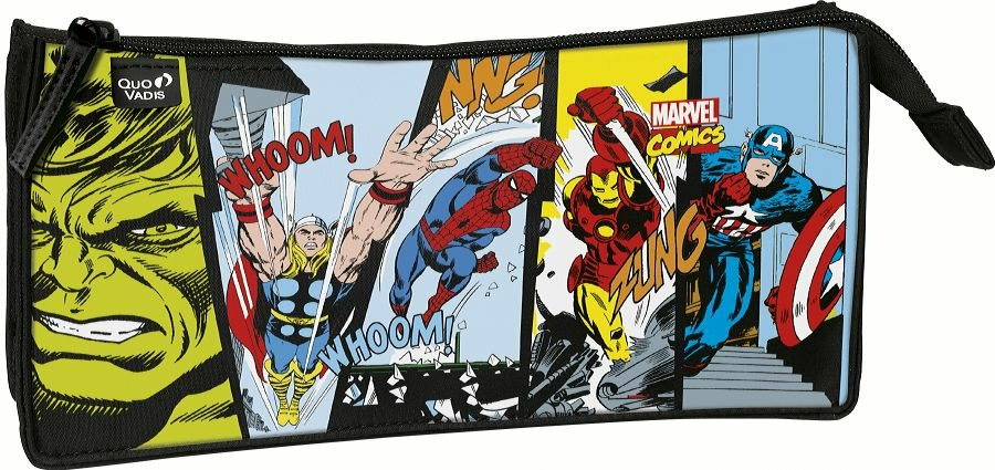 Astuccio rettangolare 3 scomparti Marvel Comics Quo Vadis. Color -