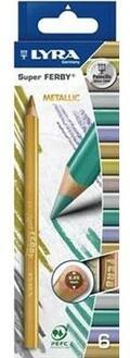 Pastelli maxi Lyra Super Ferby Metallic.