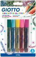 Colla glitter Giotto. 5 colori Confettis