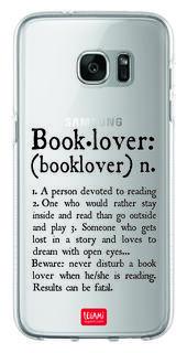 Cover per Samsung S7 Edge Clear Case. Book Lover