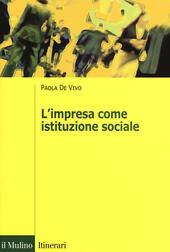 L' impresa come istituzione sociale