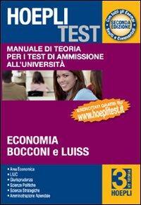 Hoepli test manuale di teoria per i test di ammissione for Test ammissione economia