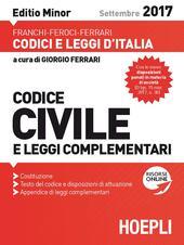Codice civile e leggi complementari 2017. Ediz. minore
