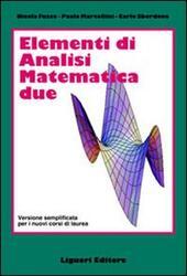 Elementi di analisi matematica 2. Versione semplificata per i nuovi corsi di laurea