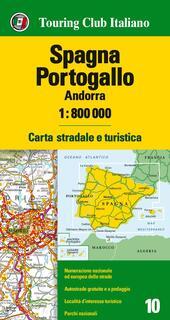 Spagna, Portogallo, Andorra 1:800.000. Carta stradale e turistica. Ediz. multilingue