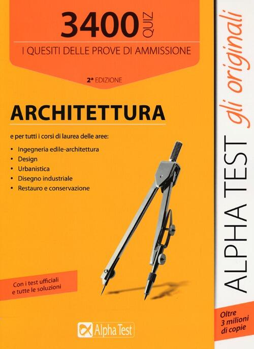 3400 quiz architettura libro for Test di architettura