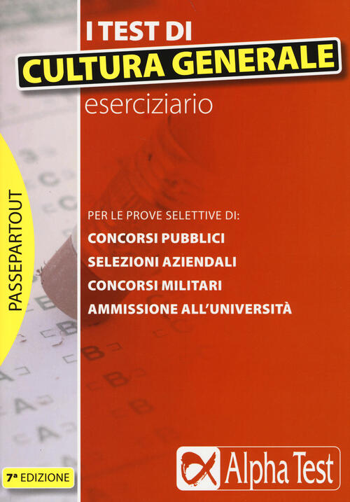 I test di cultura generale eserciziario libro for Test scienze politiche