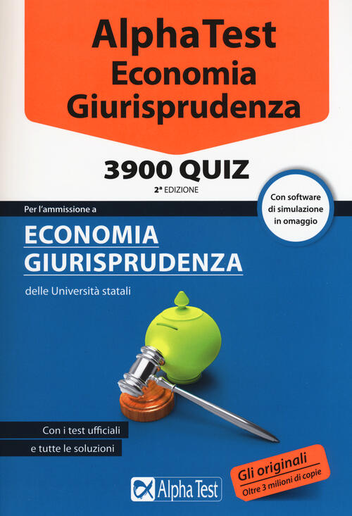 Alpha test economia giurisprudenza 3900 quiz con for Test di economia