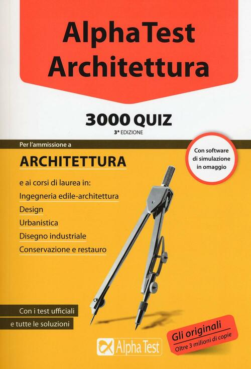 Alpha test architettura 3000 quiz con software di for Test scienze politiche