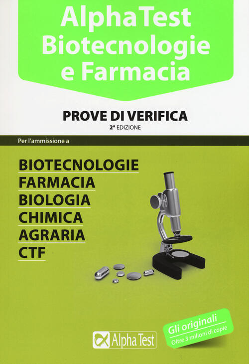 Alpha test biotecnologie e farmacia prove di verifica for Test scienze politiche