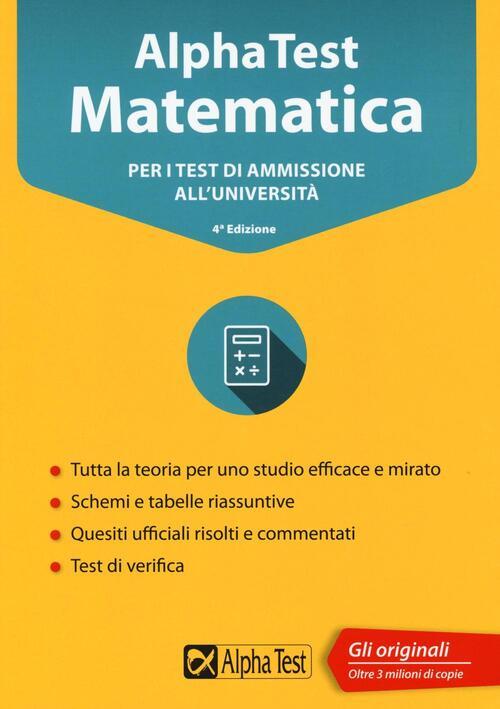 Alpha test matematica per i test di ammissione all for Test ammissione economia
