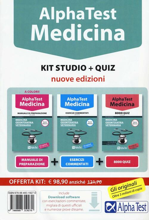 Alpha test medicina kit studio con contenuto digitale for Test scienze politiche