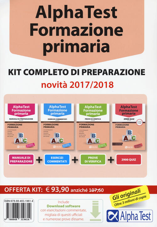 alpha test formazione primaria kit completo di