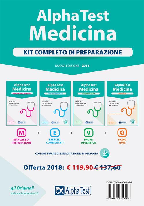 alpha test medicina kit completo di preparazione con