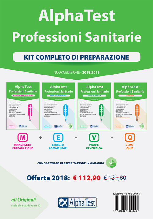 Alpha test professioni sanitarie kit completo di for Test scienze politiche