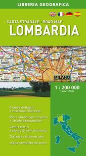 Lombardia. Carta stradale 1:200.000