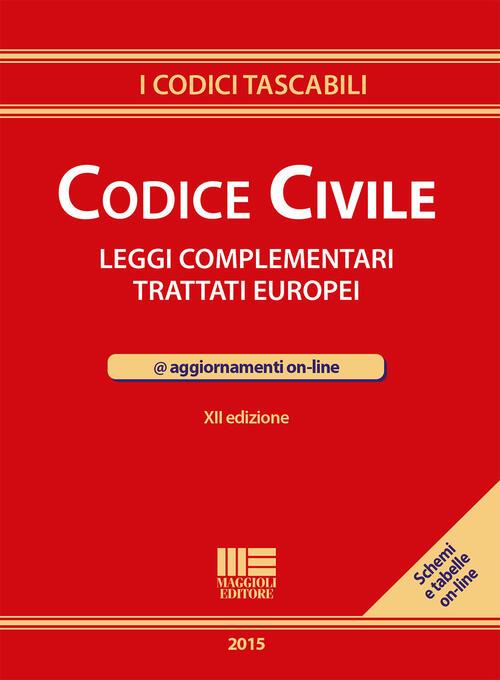 Codice civile leggi complementari trattati europei con for Leggi libri online