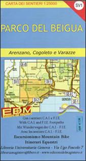 SV-1 parco del Beigua. Carte dei sentieri di Liguria
