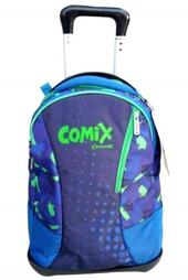 Zaino Trolley Comix Extreme Blu-Verde. Con trolley staccabile