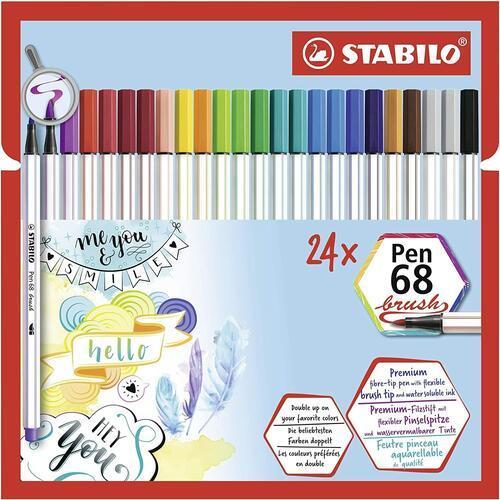 STABILO Pen 68 Pennarello colore Nero Confezione da 10 Pezzi
