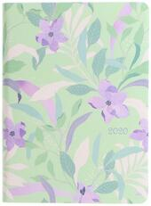 Agenda 2020 Letts Flexi Pattern Mix - Botanical settimanale A6 Verde. Green