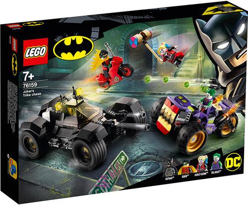 Lego batman super heroes dc batman all'inseguimento del tre-ruote di joker con la batmobile 76159
