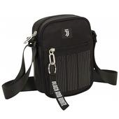 Borsa tracolla quadrata Juventus Square Shoulder Bag Bianco e nero. Black and White