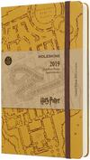 Agenda giornaliera 2019, 12 mesi, Moleskine large. Limited Edition Harry Potter. Beige