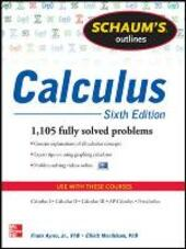 Schaum's Outline of Calculus: 1.105 Solved Problems. Con DVD