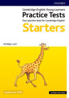 Cambridge english qualifications young learners. Practice Tests Pre A1 Starters. Pack. Con espansione online