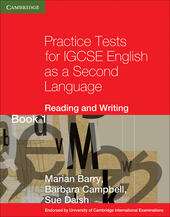 Practice tests for IGCSE. English as a second language: reading and writing. Con espansione online. Vol. 1