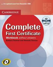 Complete first certificate. Workbook. Con CD Audio.