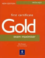 FIRST CERTIFICATE GOLD EXAM MAXIMISER WITH KEY