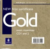 NEW FIRST CERTIFICATE GOLD - EXAM MAXIMISER AUDIO CDS