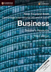 Cambridge International AS and A Level Business. Teacher's Resource. CD-ROM