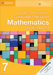 Cambridge Checkpoint Mathematics. Teacher's Resource Stage 7. CD-ROM