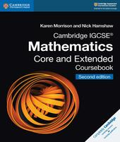Cambridge IGCSE Mathematics core and extended coursebook. Con espansione online