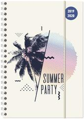 Diario 2019-2020 Summer Party, 17 mesi, settimanale spiralata Alpha Edition Collegetimer large
