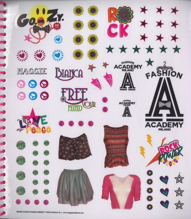 Style book maggie bianca fashion friends con adesivi for Milano fashion academy