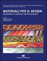 (NUOVO o USATO) Materiali per il design. Introduzione ai materiali..