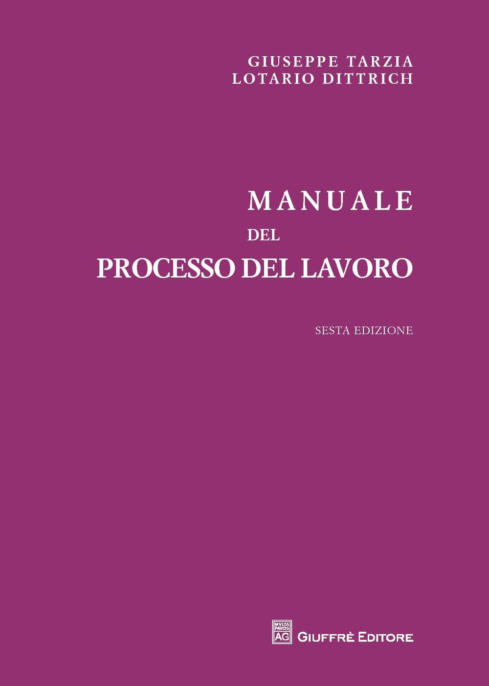Image of Manuale del processo del lavoro