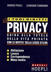 (NUOVO o USATO) I tuoi diritti alla privacy. Guida alla tutela del..