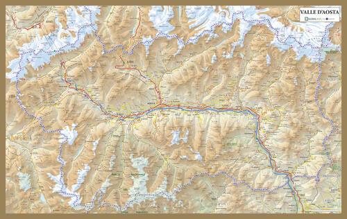 Cartina Stradale Valle D Aosta.Valle D Aosta Carta Stradale Della Regione Carta Plastificata 60x40 Libro Libraccio It
