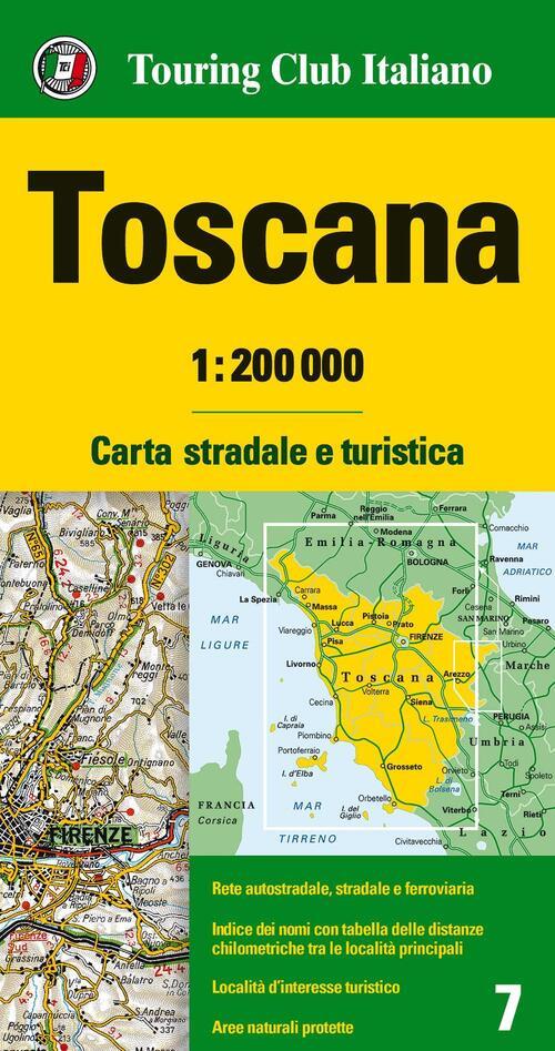 Cartina Geografica Lazio E Toscana.Toscana 1 200 000 Carta Stradale E Turistica Libro Libraccio It