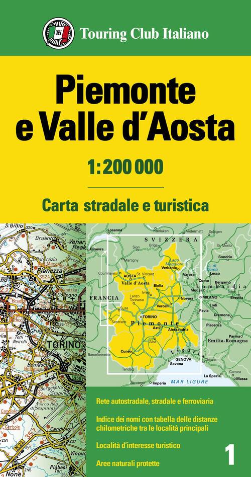 Piemonte Cartina Stradale.Piemonte E Valle D Aosta 1 200 000 Carta Stradale E Turistica Libro Libraccio It