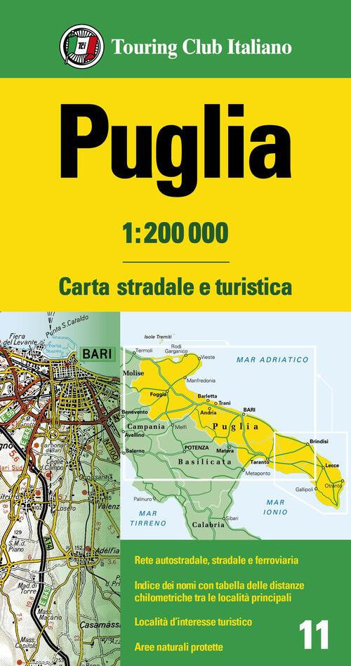 Cartina Autostradale Della Puglia.Puglia 1 200 000 Carta Stradale E Turistica Libro Libraccio It