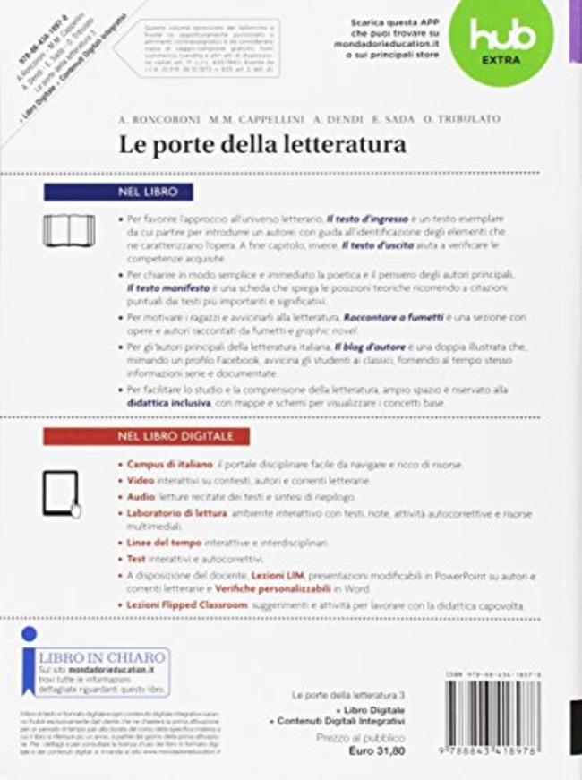 Le porte della letteratura. Con e-book. Con espansione online. Vol ... 761aa26ed8e4