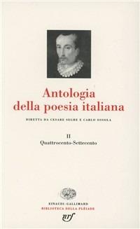 (NUOVO o USATO) Antologia della poesia italiana. Vol. 2: Quattroce..