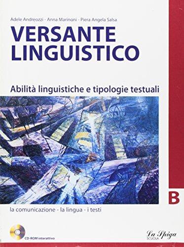 Image of Versante linguistico. Tomo B. Per le Scuole superiori