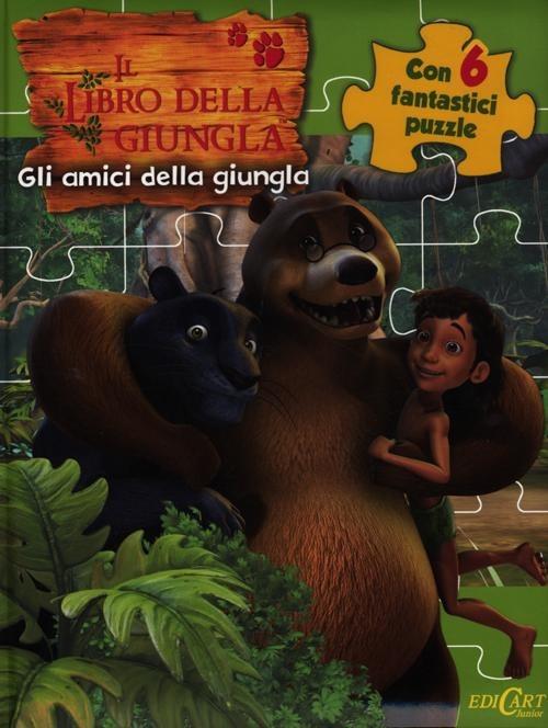 Gli amici della giungla. Il libro della giungla. Libro puzzle
